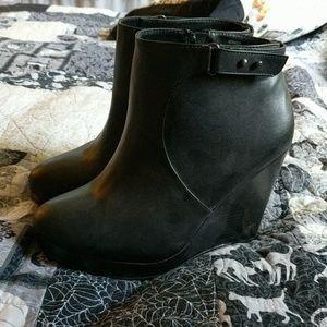 Torrid black wedge bootie